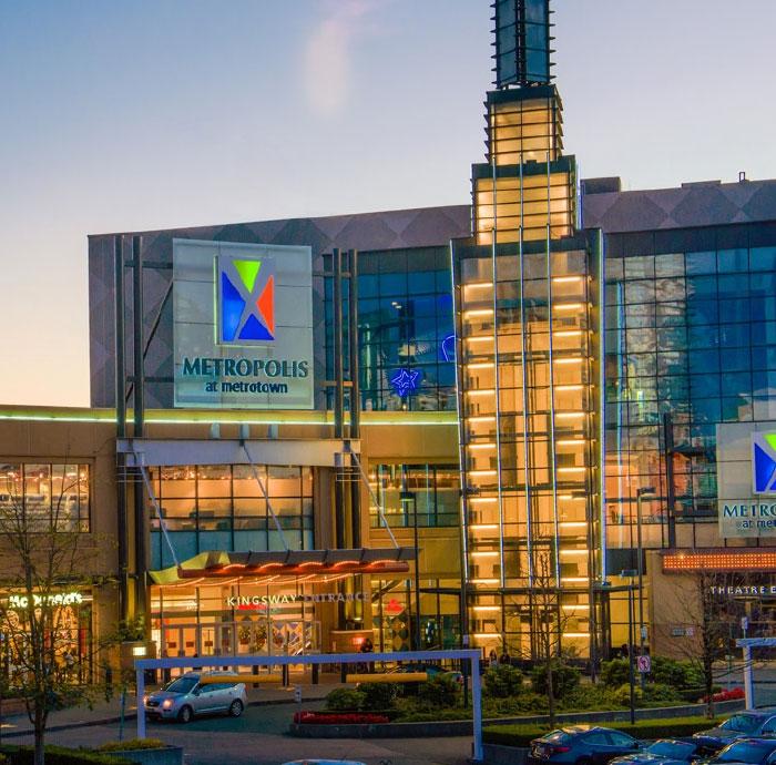 Buranby Metrolopis at Metro town BC largest Mall